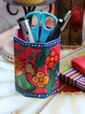 Nepalese Hand Painted Pen Holder - Penny Bizarre - 6