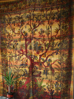 Indian Wall Hanging Double Throw Bedspread Tree of Life - Penny Bizarre - 2