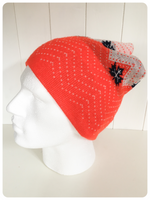 ORIGINAL VINTAGE 1970's SKI MAPLE LEAF CANADA BEANIE KNITTED WINTER HAT