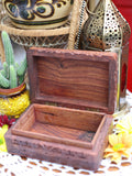 Hand-made Indian Wooden Box Om - Penny Bizarre - 3