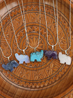 Hand Crafted Gemstone Elephant Necklace - Penny Bizarre - 2