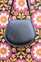 Vintage 70s Embroidered Floral Leather Saddle Bag - Penny Bizarre - 4