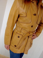 Vintage 1970s Tan Leather Jacket - Penny Bizarre - 6