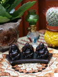 Resin Buddha Figures Hear See Speak No Evil - Penny Bizarre - 1