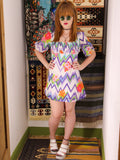 Vintage 1970s Ziggy Flower Power Mini Dress Tunic - Penny Bizarre - 3