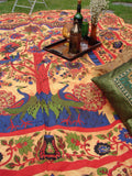 Indian Wall Hanging Double Throw Bedspread Tree of Life Peacocks - Penny Bizarre - 2