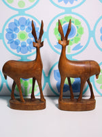 Vintage 70's Wooden Antelope (pair) - Penny Bizarre - 3
