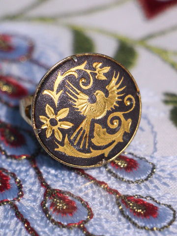 Bohemian Vintage Inlaid Phoenix Ring - Penny Bizarre - 1