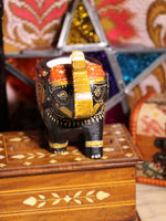 Wooden Indian Elephant Tea Light Holder (Black) - Penny Bizarre - 3
