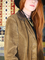 Vintage 1970s Tan Suede & Leather Jacket - Penny Bizarre - 5