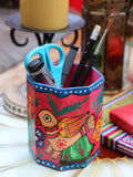 Nepalese Hand Painted Pen Holder - Penny Bizarre - 5
