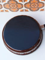 1970's Brown Floral Enamel Frying Pan - Penny Bizarre - 4