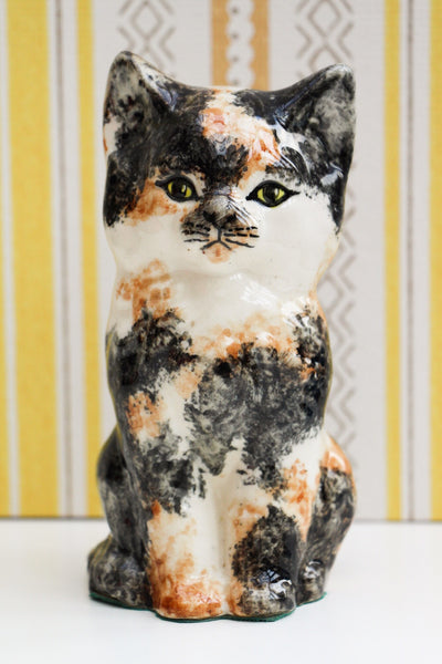 Vintage Calico Cat Ceramic Ornament - Penny Bizarre - 1