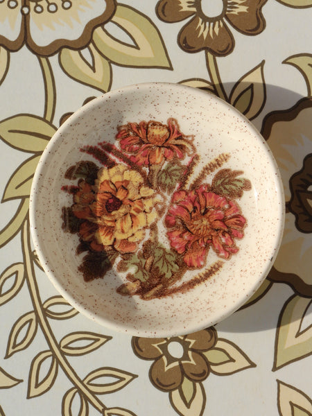 1970's Royal Worcester Palissy Floral Mini Serving Dish - Penny Bizarre - 1