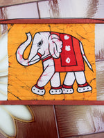 Hand Made Indian Elephant Om Batik Wall Hanging - Penny Bizarre - 9