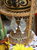 Hand Crafted Vintage Indian Coin Earrings (Gold or Silver) - Penny Bizarre - 5