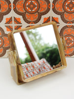 1970's Marble Effect Vanity Shaving Wall Mirror Square - Penny Bizarre - 4