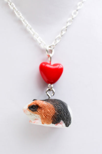 Hand Crafted Guinea Pig Love Necklace - Penny Bizarre - 1