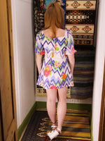 Vintage 1970s Ziggy Flower Power Mini Dress Tunic - Penny Bizarre - 6