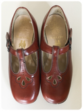 VINTAGE 60's 70's DEEP TAN LEATHER START-RITE CHILDRENS SHOES SIZE 10 1/2D BRAND NEW!