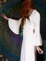 Vintage 1970s White Maxi Goddess Wedding Dress - Penny Bizarre - 4