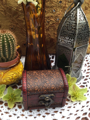 Hand-made Inlaid Indian Wooden Box - Penny Bizarre - 1