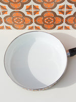 1970's Brown Floral Enamel Frying Pan - Penny Bizarre - 2