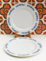 1960's Crown Clarence Geometric Pattern Dinner Plates x 2 - Penny Bizarre - 1