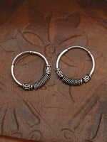 Hand Crafted 925 Sterling Silver Balinese Hoop Earrings 14mm - Penny Bizarre - 2