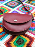 Vintage 70s Oxblood Leather Saddle Bag - Penny Bizarre - 4