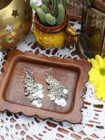 Hand Crafted Vintage Indian Coin Earrings (Gold or Silver) - Penny Bizarre - 4