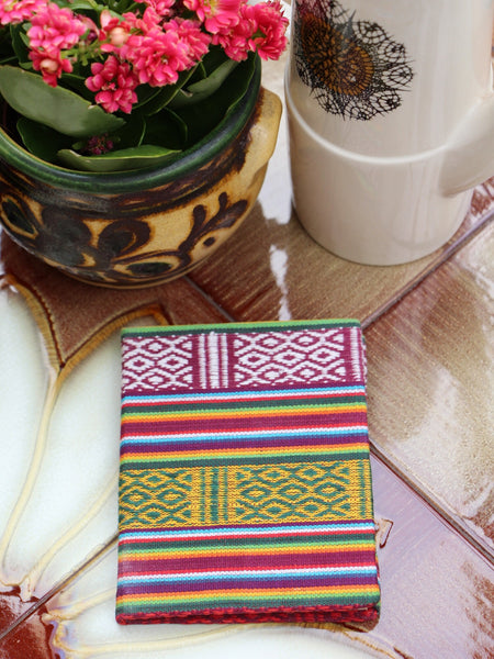 Hand Made Nepalese Bhutani Woven Fabric Notebook Pocket Book - Penny Bizarre - 1