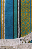 Vintage 60's 70's Fringed Double Bedspread Throw Blanket - Penny Bizarre - 2