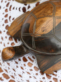 Vintage Wooden Indian Carved Turtle - Penny Bizarre - 3