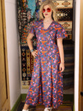 Vintage 1970s Dahlia Dreams Maxi Dress - Penny Bizarre - 1