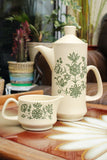 1970's Royal Worcester Palissy Coffee Pot & Creamer / Milk Jug - Penny Bizarre - 3