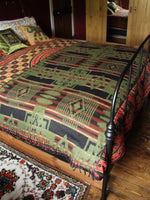 Nepalese Aztec Wool Throw Blanket Shawl - Penny Bizarre - 2
