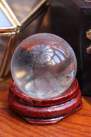 Mini Crystal Ball With Wooden Stand 30mm - Penny Bizarre - 2