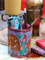 Nepalese Hand Painted Pen Holder - Penny Bizarre - 9