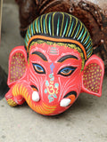Ceramic Indian Ganesh Elephant Wall Hanging Mask - Penny Bizarre - 2