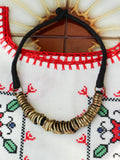 Handcrafted Indian Anisha Hoop Necklace (silver or bronze) - Penny Bizarre - 3