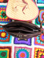 Vintage 80s Dark Brown Leather Concho Bag - Penny Bizarre - 5