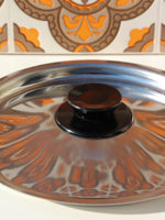 1970's Brown Floral Enamel Medium Saucepan - Penny Bizarre - 4
