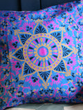Indian Hand Made Silk Mandala Alpana Cushion Cover - Penny Bizarre - 4