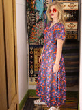 Vintage 1970s Dahlia Dreams Maxi Dress - Penny Bizarre - 3