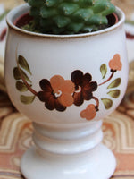Hand Painted Vintage 1970's Pottery Plant Holder Goblet - Penny Bizarre - 3