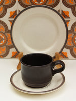 1970's Kiln Craft Brown Oatmeal Ironstone Breakfast Trio - Penny Bizarre - 2