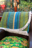 Vintage 60's 70's Fringed Double Bedspread Throw Blanket - Penny Bizarre - 1