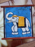 Hand Made Indian Elephant Om Batik Wall Hanging - Penny Bizarre - 10