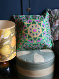 Indian Hand Made Silk Mandala Alpana Cushion Cover - Penny Bizarre - 1